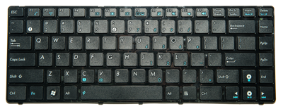 Keyboard ASUS UL30 A42 A43 K42 K43 B43 N43 X43 P43 N82 (SMALL ENTER, CHICLET WITH FRAME)