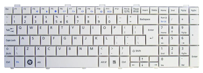 Keyboard FUJITSU SIEMENS Lifebook A530 A531 AH530 AH531 (WHITE, BIG ENTER)