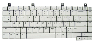 Keyboard HP COMPAQ NX9100 ZE2000 DV5000 ZV6000 C300 M2000 (SMALL ENTER, WHITE)
