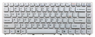 Keyboard SONY Vaio VGN-NW PCG-7181M PCG-7186M (WHITE)