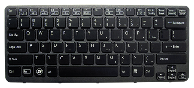 Keyboard SONY Vaio VPC-CA PCG-61713M PCG-61714M (BACKLIT, WITH FRAME)