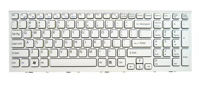 Keyboard SONY Vaio VPC-EH PCG-71811M PCG-71911M (CHICLET WITH FRAME, WHITE)