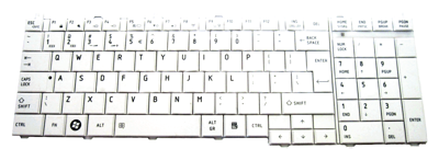 Keyboard TOSHIBA Satellite C650 C660 L650 L670 L770 - WHITE