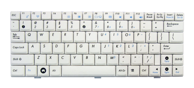 Keyboard ASUS EEE PC 904 905 1000 1002 (WHITE)