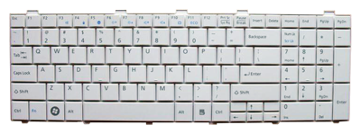 Keyboard FUJITSU SIEMENS Lifebook A530 A531 AH530 AH531 (WHITE, SMALL ENTER)