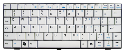 Keyboard FUJITSU SIEMENS M1010 Ui3520 (WHITE, SMALL ENTER)