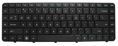 Keyboard HP COMPAQ Pavilion DV6-3000 DV6-4000 (SMALL ENTER, CHICLET WITH FRAME)