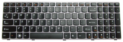Keyboard IBM LENOVO Ideapad Y570 (FN-CTRL)