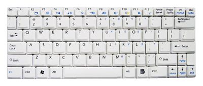 Keyboard MSI Wind U90 U100 U110 U120 (WHITE)