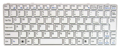 Keyboard SONY Vaio SVE11 (WHITE, BIG ENTER)
