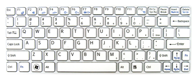 Keyboard SONY Vaio SVE11 (WHITE, SMALL ENTER)