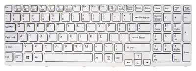 Keyboard SONY Vaio SVE151 (WHITE, BACKLIT)