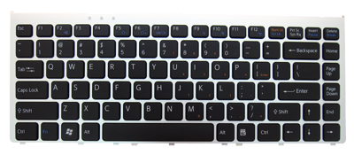Keyboard SONY Vaio VGN-FW PCG-3D1M PCG-3H1M PCG-3F1M PCG-3J1M (CHICLET WITH SILVER FRAME)
