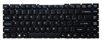 Keyboard SONY Vaio VGN-FW PCG-3D1M PCG-3H1M PCG-3F1M PCG-3J1M (CHICLET WITHOUT FRAME)
