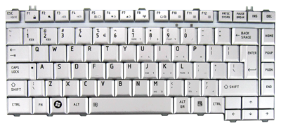 Keyboard TOSHIBA A200 A300 M200 M300 L200 L300 (SILVER, BIG ENTER)