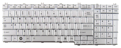 Keyboard TOSHIBA Satellite A500 A505 L350 L500 P200 P300 (SILVER, SMALL ENTER)