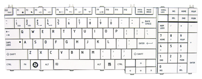 Keyboard TOSHIBA Satellite A500 A505 L350 L500 P200 P300 (WHITE)
