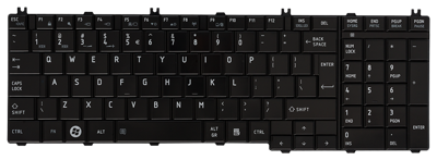 Keyboard TOSHIBA Satellite C650 C660 L650 L670 L770 (GLOSSY, BIG ENTER)