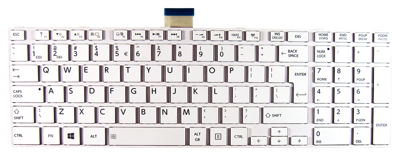Keyboard TOSHIBA Satellite C850 C855 C870 L850 L855 L870 (WHITE, BIG ENTER)