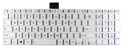 Keyboard TOSHIBA Satellite C850 C855 C870 L850 L855 L870 (WHITE, SMALL ENTER)
