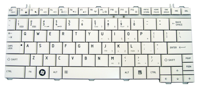 Keyboard TOSHIBA U400 U500 A600 M800 M900 (WHITE, SMALL ENTER)