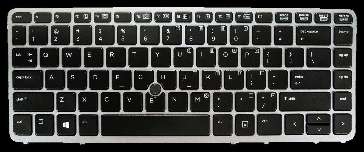 Keyboard HP COMPAQ Elitebook 840 850 G1 G2 (SILVER FRAME