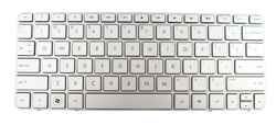 Keyboard HP COMPAQ Mini 210-2000 210-3000 210-4000 (SILVER, SMALL ENTER, CHICLET WITH FRAME)