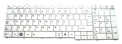 Keyboard TOSHIBA Satellite C650 C660 L650 L670 L770 (WHITE, BIG ENTER)